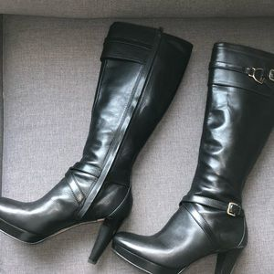 Cole Haan leather boots with heel